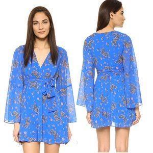 Free People Cheek Chiffon Lilou Printed Dress XS